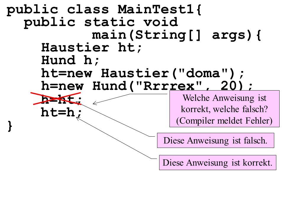 public class MainTest1{ public static void main(String[] args){